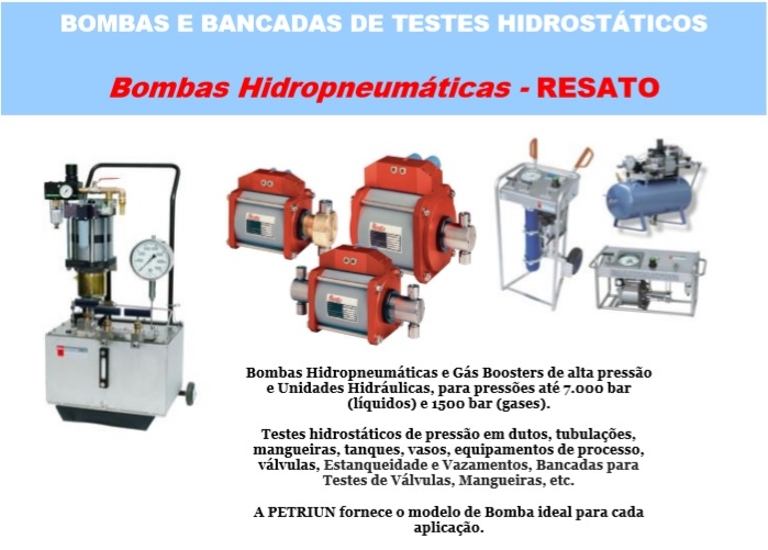 Bancada teste hidrostatico valvulas